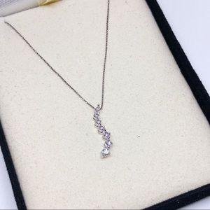 Diamond Journey Pendant 1/4cttw in 10k White Gold